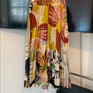 Zara midi skirt elastic waist